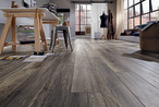 Harbour Oak Grey laminate flooring (D 3572) of the KRONOTEX AMAZONE collection