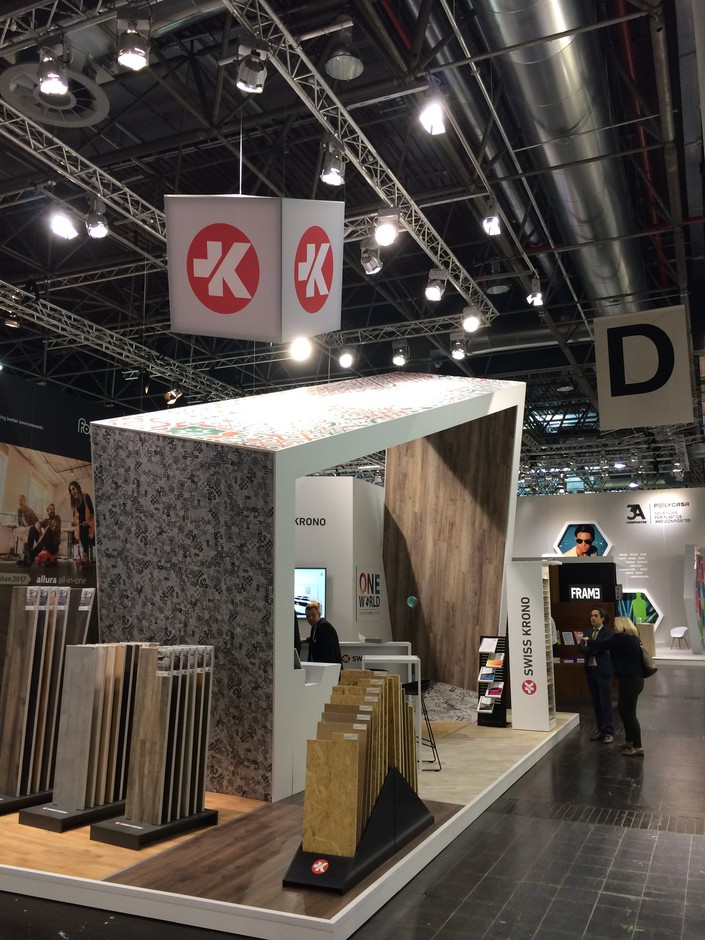 Exhibition Stand Trends 2018 : Euroshop premiere for swiss krono tex