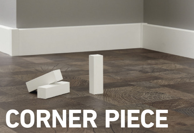 Corner Piece For Skirting Boards Ktex F And Ktex P 22 X 22 X 82 Mm Packet 2 Pcs Available In White D Cor