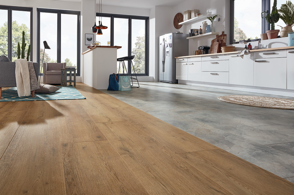Laminate Decors And Panel Formats Skilfully Combined