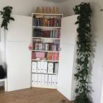 Im Erdgeschoss verlegte die Bauherrin rund 65 m² des Dekores Natural Pine (D 2774) – auch im Arbeitszimmer.